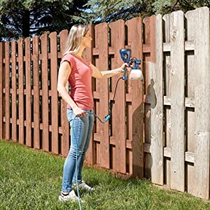 painting fence air spray filter paint sprayer painter stain