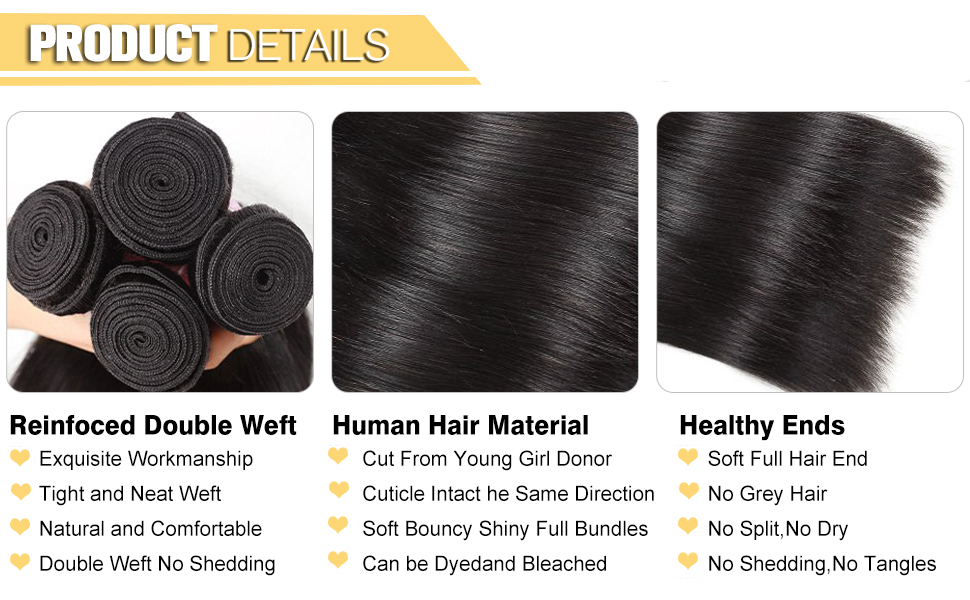 3 straight bundles with closure