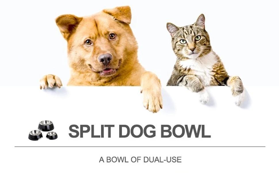 split dog bowl Double layer bowls