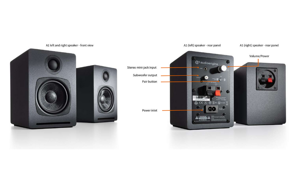 Audioengine A1 Tech Specs