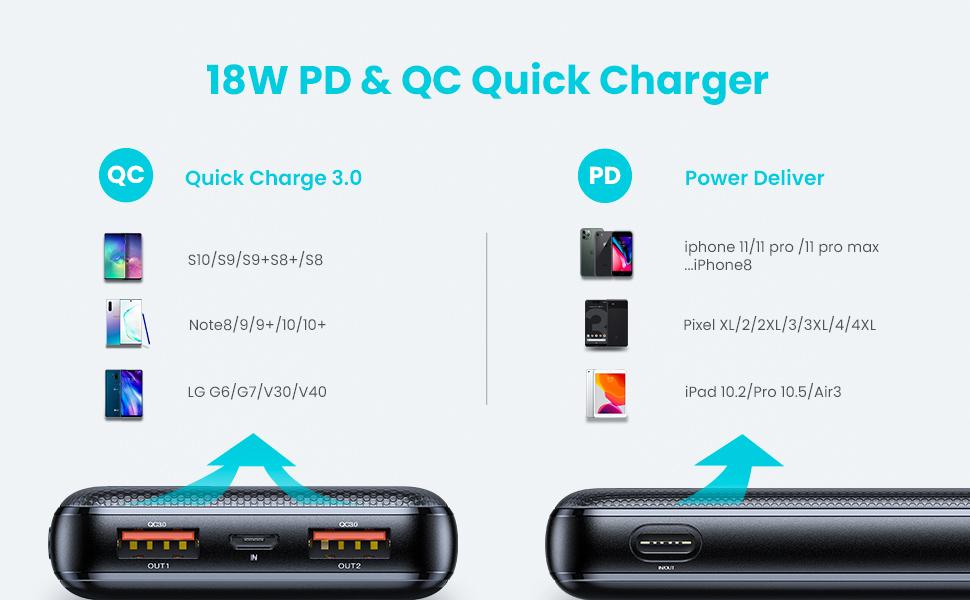 10000mah power bank portable charger
