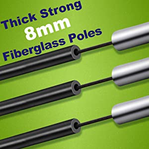 Dimples Excel Thick Strong Fiberglass Poles for The Product of B086WCC3VC