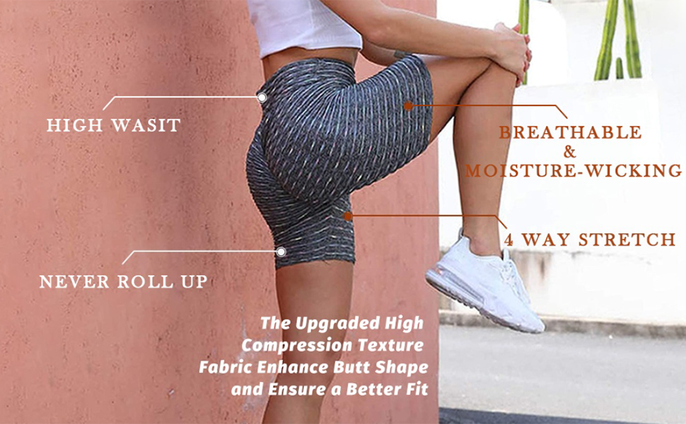 Trish Lucia Womens High Waisted Yoga Shorts Sports Gym Ruched Butt Lifting Workout Running Hot Leggings