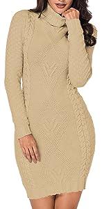 Soft warm sweater dresses