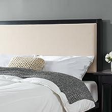 Zinus Fabric Headboard metal Frame Bed Head Cheap Online