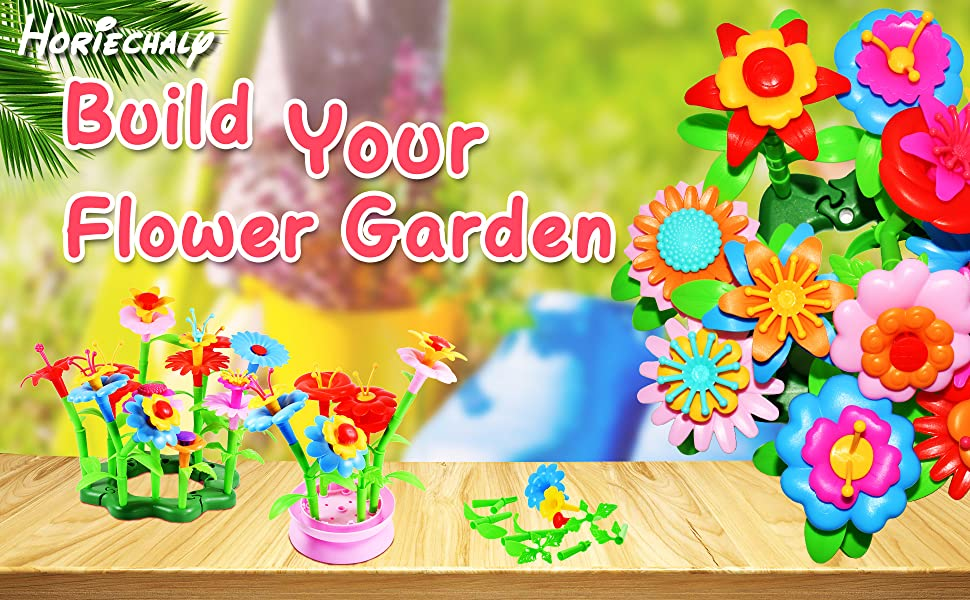 Flower garden building toys for 3–6-year-old toddler girls activity 3 - year - old stem toy