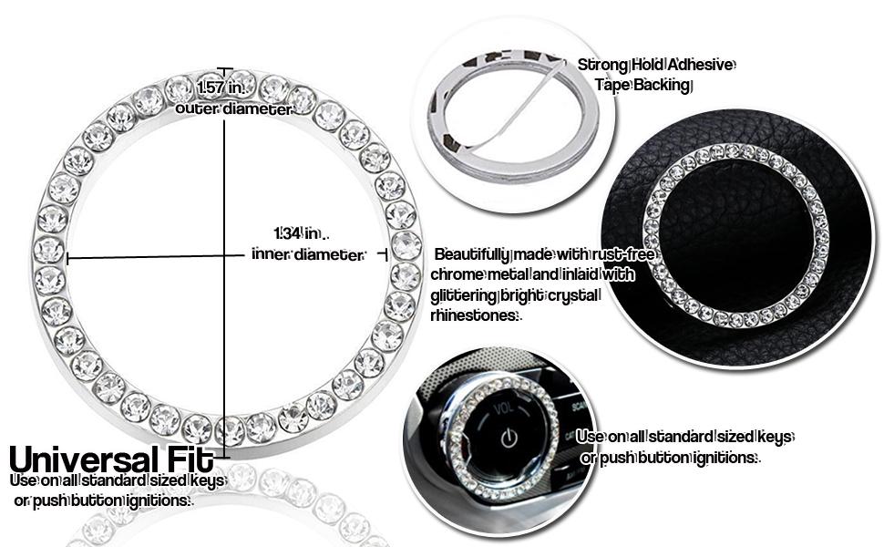 shiny bling car set accessory