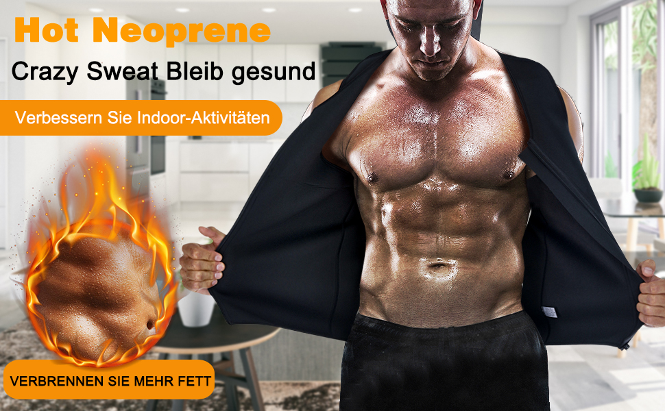 Herren Fitness Shape Shirt Figur formend Training Achselshirts