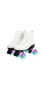 White Flash Roller Skates