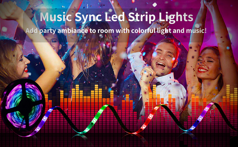 music sync led light strip