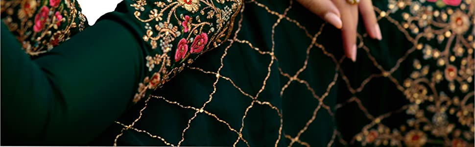 embroidered salwar suit set with dupatta Pakistani  heavy work party wear  wedding mehndi ceremony