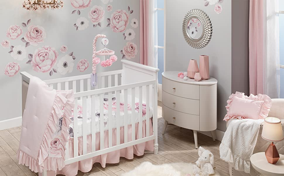 Floral Garden Nursery with Crib Bedding Set