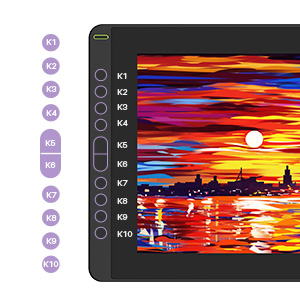 kamvas 16 digital art tablet with 10 exprss keys