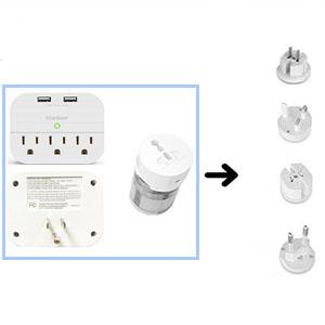 world travel plug power strip