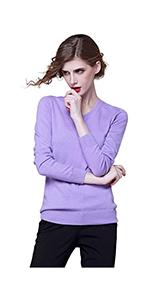 V neck cashmere sweater