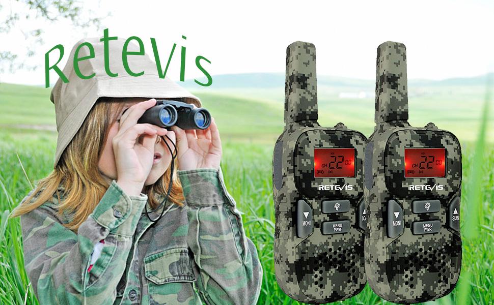 retevis RT33 kids walkie talkies