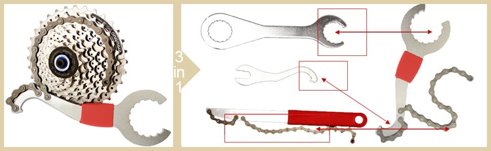 Profi Fahrrad Reparatur Werkzeug Kurbelabzieher Zahnkranzabzieher Kettenwerkzeug