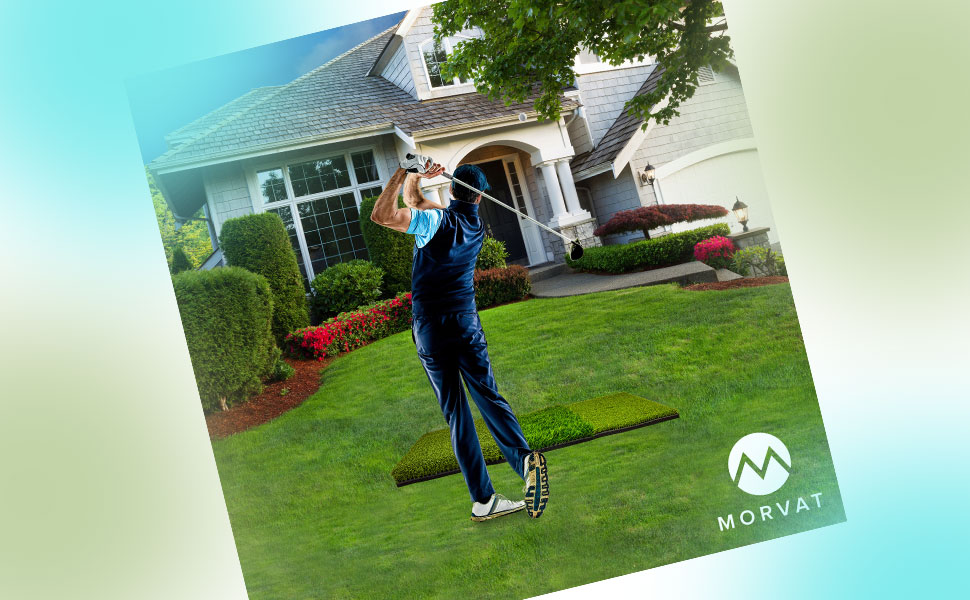 mats use putter swing range impact screen chipping launch pitching cage left handed tri matt rukket