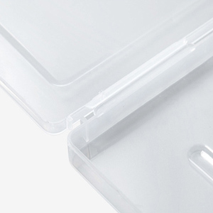 Files Transparent PP Plastic Box Portable Cases Clear Box Office Supplies Holder Documents Protector