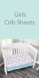 girls crib sheet