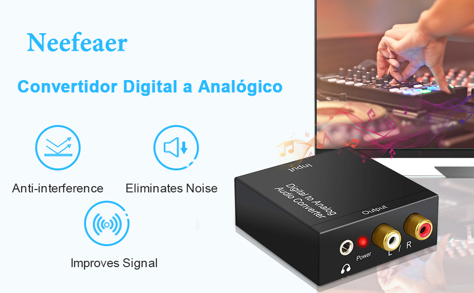 Neefeaer Convertidor Digital a Analógico: Amazon.es: Electrónica