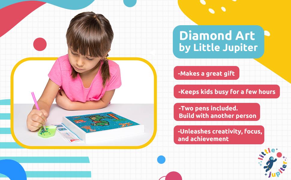 canvas art arts sets for kits rainy day activity birthday present unicorn gift beginner diamond art
