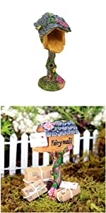 fairy garden miniature mailbox mini outdoor indoor figurine