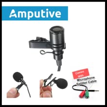 Amputive Lapel lavalier Clip Microphone For Youtube voice recording,  omnidirectional mic for Laptop Smartphones PC