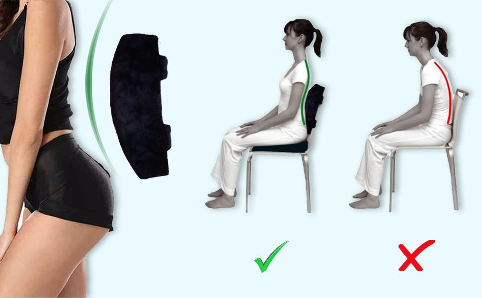 seat cushion chair office back support desk lumbar pillow car cushions memory foam pad gel ergonomic
