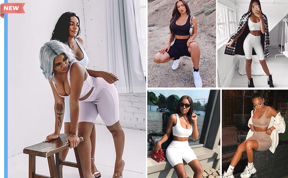 womens fashion shorts sets