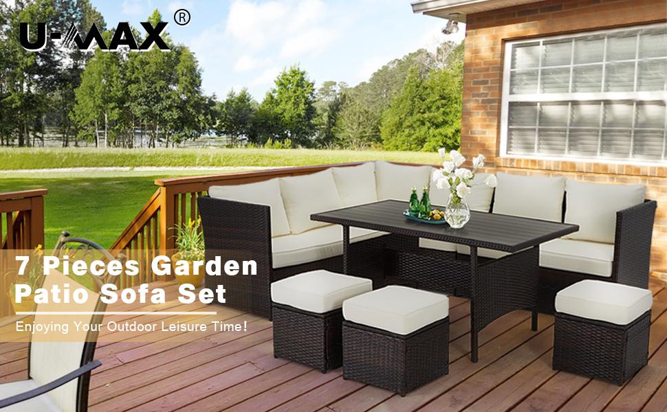 wicker patio set