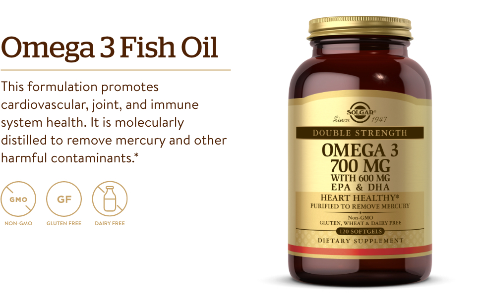 Fish Oil Supplement - Support for Cardiovascular, Joint Cellular Health EPA DHA Omega 3 Fatty Acids