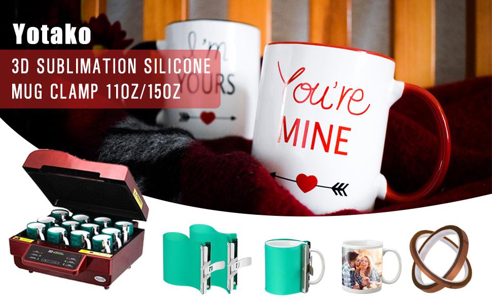 3D Sublimation Silicone Mug