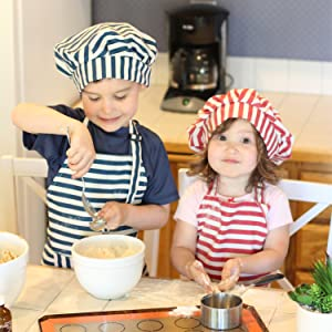 children baking apron