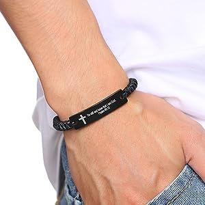 bible verse bracelet for boy