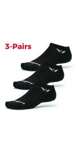 Performance Zero, 3 pairs, multi-pack socks