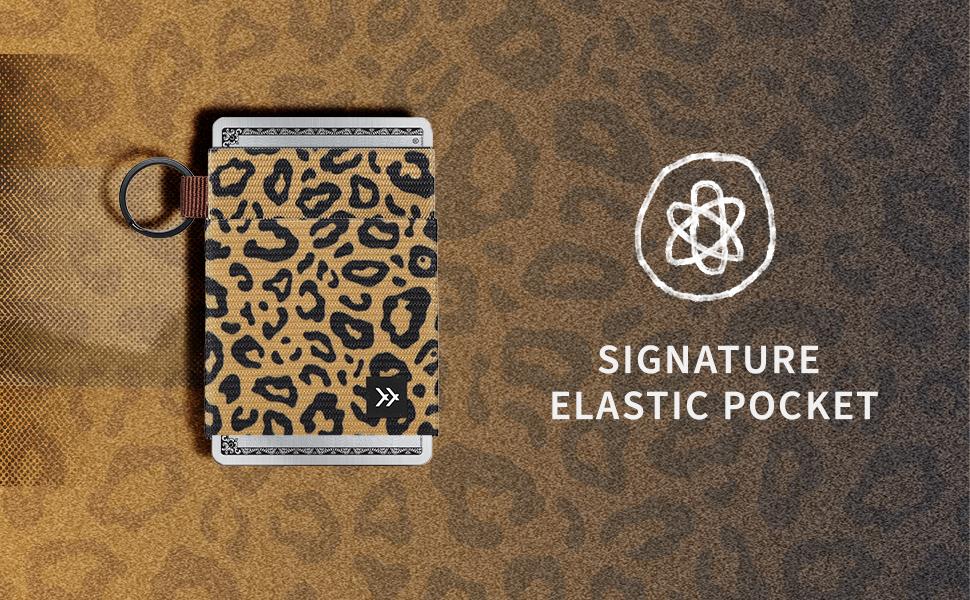 signature elastic pocket, elastic, pocket, wallet, slim wallet, cardholder