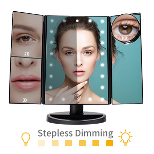 makeup mirror with lights and magnification 10x