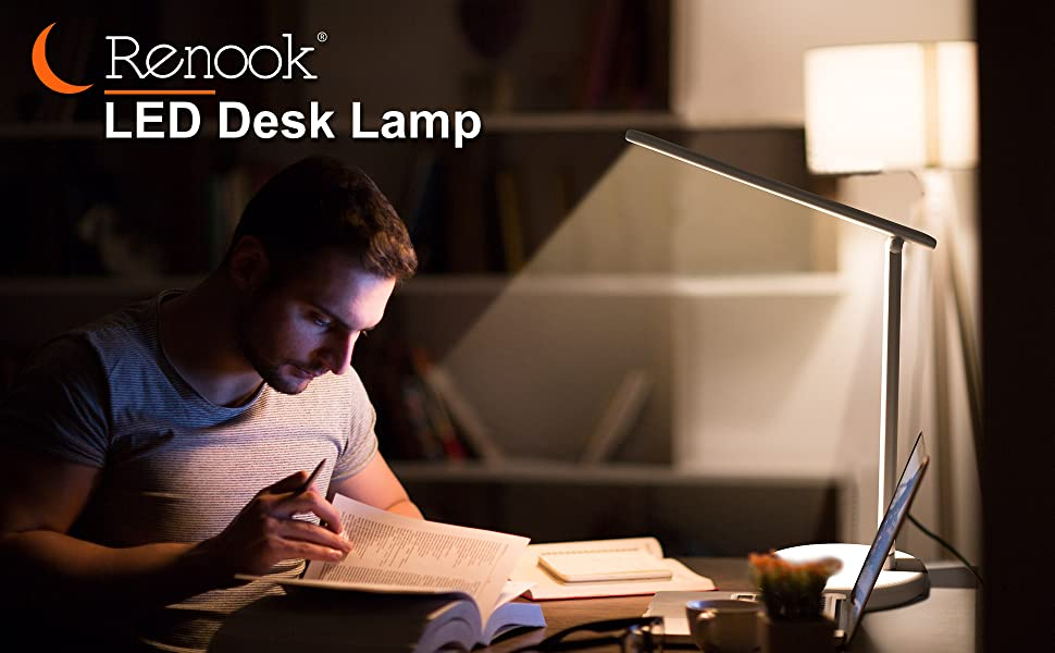 Led desk lamp Dimmable Table Lamp Eye-caring Office USB Charging Port Lighting Modes Brightness