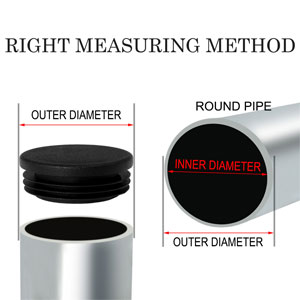 Plastic Round Ribbed Tube Insert Pipe End Cover Cap