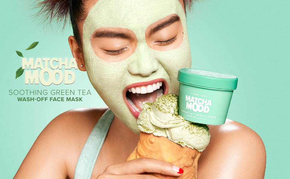 i dew care, matcha mood, wash off face mask