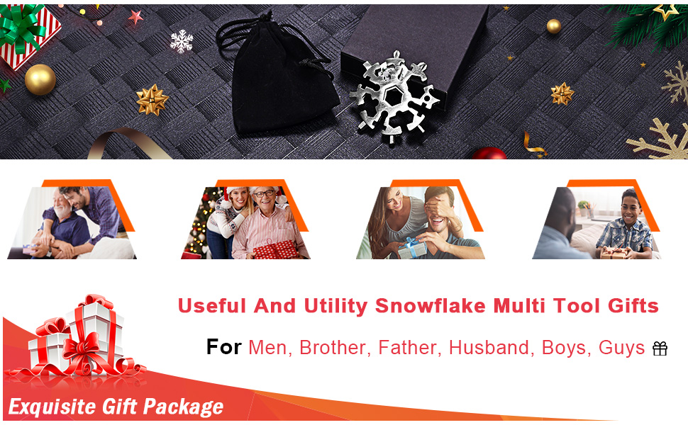 Snowflake Multitool Gifts for Brother Guys Dad