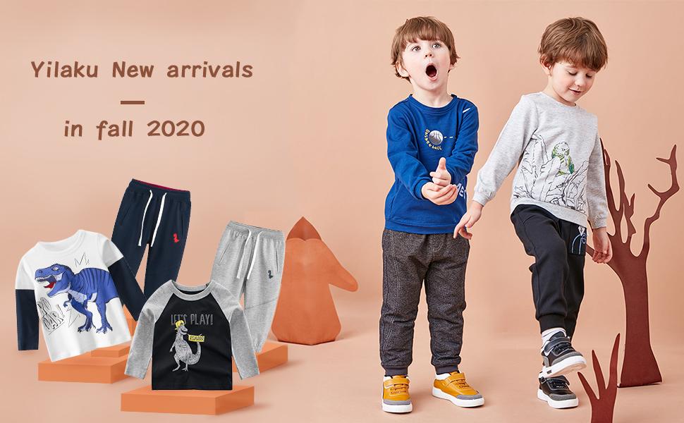 Koupa Kids 2-Piece Printing Cartoon Set Little Boys Long Sleeve Outfits