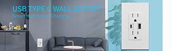 type c wall outlet