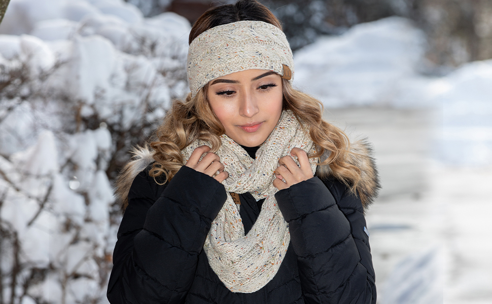 Matching tie dye headband and oblong scarf bundle set