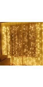 600 LED Window Curtain String Light