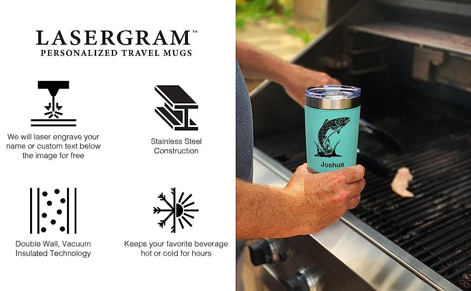 lasergram personalized travel mugs
