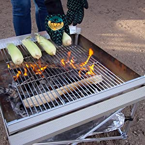 Grill grates set up quickly
