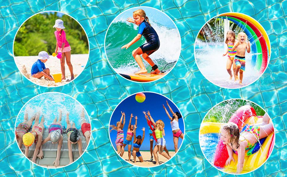 girls swimming training