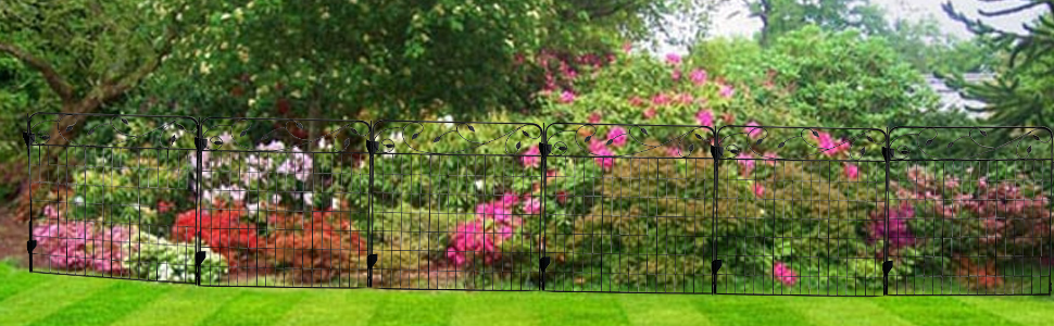 AshmanOnline Garden Fence 44in x 6ft (Set of 4)